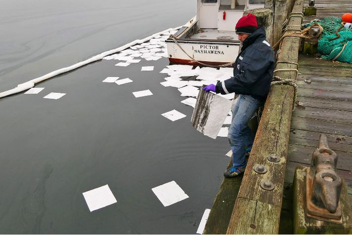 Chemtex responds to oil spill in Woods Hole, Falmouth, MA