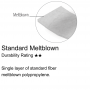 Standard Meltblown Single layer of standard fiber meltblown polypropylene.