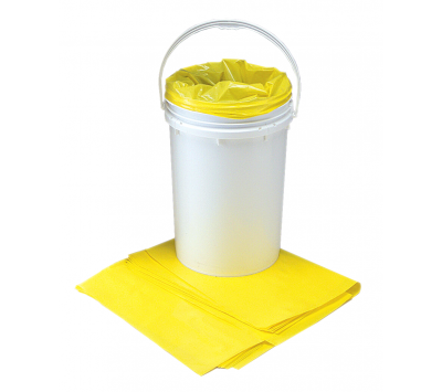 Poly Liners 4 mil Yellow Bags Chemtex BAG1003 OIL620