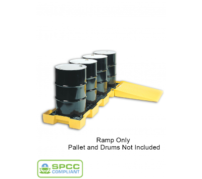 Poly Ramp for Spill Pallets in use Chemtex CON5619 CON0114