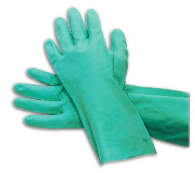 """Green Nitrile Unsupported Gloves 13 """" Chemtex PPEG1210 GLO1055"""