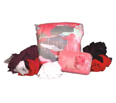 Rags and Wiping Cloths Colored Flannel 50 lb Compressed Box Chemtex RAG1000 WIP975