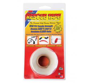 "Rescue Tape Clear Silicone Tape 1"" x 12' Chemtex TPE1003"